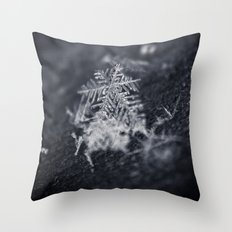 Macro Snowflakes 2 Throw Pillow