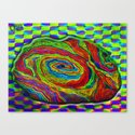 BRAINMAN #1 Psychedelic Vibrant Character Design Canvas Print
