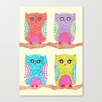 Some Owls Canvas Print