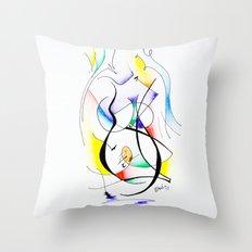 Cuerpo de mujer (estudio) Throw Pillow