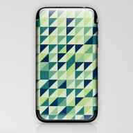 Blue And Green Geometric… iPhone & iPod Skin