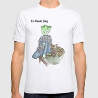 es-carole king Mens Fitted Tee Ash Grey SMALL