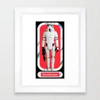 Stormtrooper Beach Towel Framed Art Print