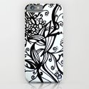 Forget Me Not Black & White  iPhone & iPod Case