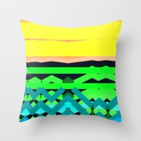 The Land Throw Pillow
