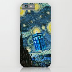 Flying Tardis doctor who starry night iPhone 4 4s 5 5c 6, pillow case, mugs and tshirt iPhone 6 Slim Case