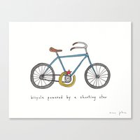 Bicycle Powered By A Sho… Canvas Print