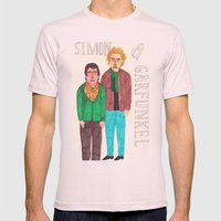 Simon & Garfunkel Mens Fitted Tee Light Pink SMALL