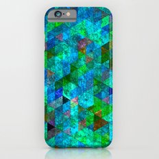 Colored Triangles Green / Blue Slim Case iPhone 6s