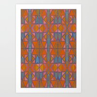 Nabu Tribal Orange Art Print
