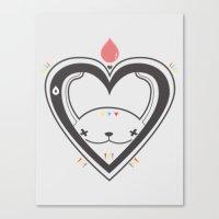 HEART ♥ DROP Canvas Print