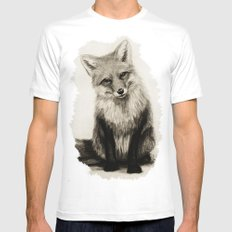 Fox Say What?! Mens Fitted Tee SMALL White