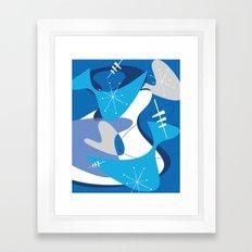 Blue Bam Boom Framed Art Print