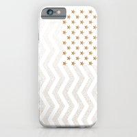 GOLD Stars & Stripes iPhone 6 Slim Case