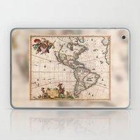 1658 Visscher Map Of Nor… Laptop & iPad Skin