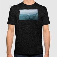 Blue smoky mountains Mens Fitted Tee Tri-Black SMALL