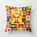 Christmas Geometric Pattern No. 1 Throw Pillow
