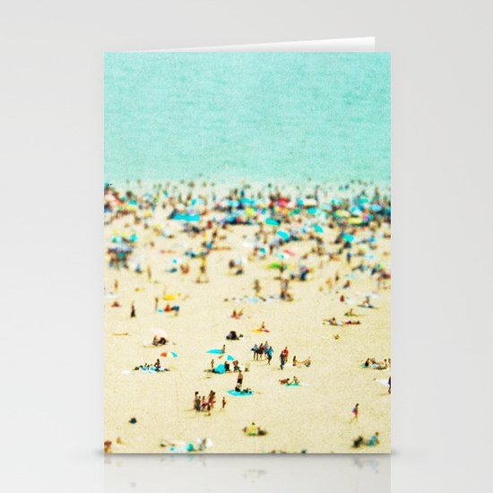 Coney Island Beach Stationery Card