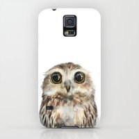 Galaxy S5 Cases featuring Little Owl by Amy Hamilton