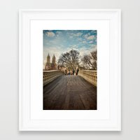 Central Park Crossing Framed Art Print