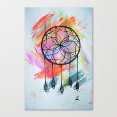 Catching Paint - Dream Catcher Canvas Print