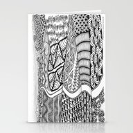 Zentangle Fields Of Drea… Stationery Cards
