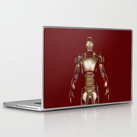 iron man Laptop & iPad Skins featuring Iron Man  by George Hatzis