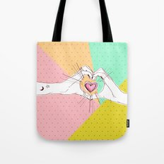 Heart Hands [Vintage Candy Edition] Tote Bag