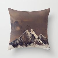 Rustic Mountain Throw Pillow