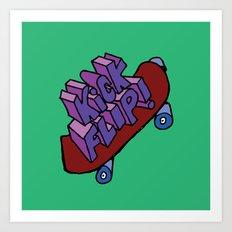 Kick Flip Art Print
