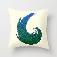 - summer wave - Throw Pillow