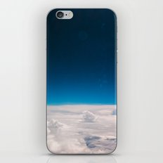 Blue and White at the sky iPhone & iPod Skin