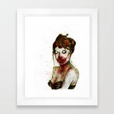 BRAAAINS BEFORE BEAUTY Framed Art Print