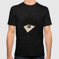 I don't give a sheet - by Genu WORDISIAC™ TYPOGY™ Mens Fitted Tee Tri-Black SMALL