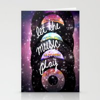 Let The Music Play Stationery Cards