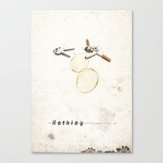 Nothing (...) | Collage Canvas Print