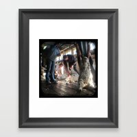 The Shearer And The Rous… Framed Art Print