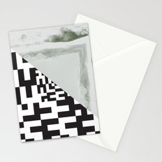 waves/grid #2 Stationery Cards
