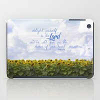 Sunflower Delight - Psal… iPad Case