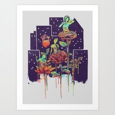 City of Flower Art Print