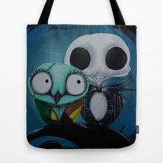 The Owl Jack And Sally Tote Bag