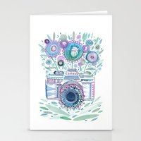 flower camera Stationery Cards