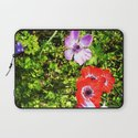 COLORED FLOWERS Laptop Sleeve