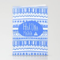 Hakuna Matata electric blue  Stationery Cards