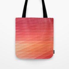 Fig. 044 Coral, Pink & Peach Geometric Diagonal Stripes Tote Bag