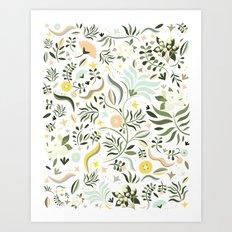 Spring at the Farmhouse Art Print