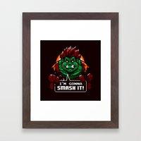 Gonna Smash It! Framed Art Print