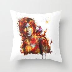 Lara Croft Throw Pillow