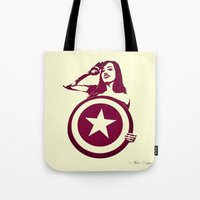 Captain Girl America Tote Bag