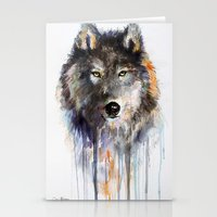 Charcoal Wolf  Stationery Cards